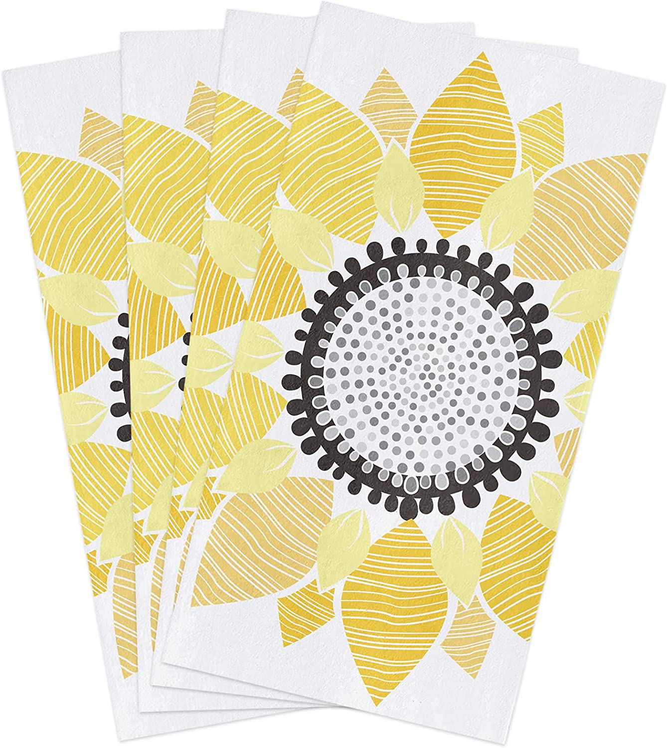 Kitchen Towels Set Abstract Sunflower Popular popular Free shipping New Yellow Towel Floral Dish B