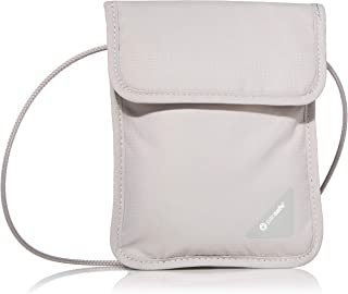 Pacsafe Coversafe X75 Anti-Theft RFID Blocking Neck Pouch, Neutral Grey