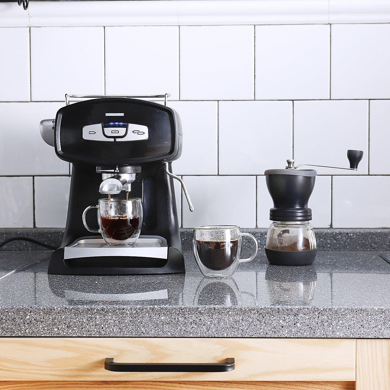 Sweese 4601 - Tazas de café con mango de cristal y aislamiento de doble pared, 2 unidades: Amazon.es: Hogar