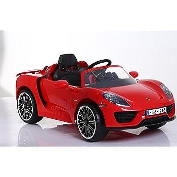 ROLLPLAY Elektrofahrzeug mit Rückwärtsgang, Für Kinder ab 3 Jahren, Bis max. 35 kg, 6-Volt-Akku, Bis zu 4 km/h, Porsche 918 Spyder, Rot