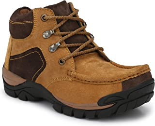 KNOOS Mens Genuine Lether Hiking BOOTS-WD-225