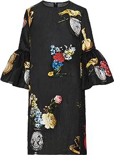 Oscar de la Renta Fil Coupé Chiaroscuro Print Dress