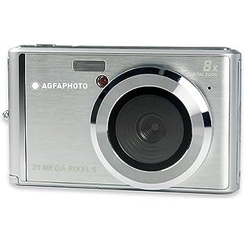 AGFA Photo - Cámara Digital compacta con 21 Mpx, Sensor CMOS, Zoom Digital 8X y Pantalla LCD, Color Plateado