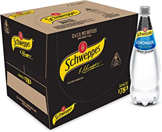 Schweppes Lemonade Zero Sugar Soft Drink, 12 x 1.1L