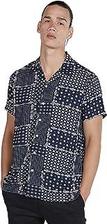 Iconic Men's 2300306 CELEBS Woven Regular Shirt, Blue