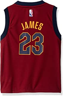 Outerstuff NBA Cleveland Cavaliers-James Kids Replica Player Jersey-Road, Small(4), Burgundy