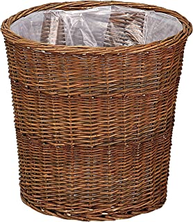 【小物収納やインテリアに最適な手作りバスケット】Willow Basket ブラックウイロープランター K10号 11-770