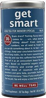 The Republic of Tea Be Well Teas No. 16, Get Smart Herbal Tea For Memory/Focus, Refill Pack Of 36 Tea Bags