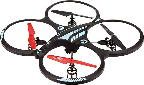Arcade OrbitCAM XL Quadcopter Quadrocopter Drohne mit Kamera, Gyro-Stabilisatoren, Flipfunktion und Fernsteuerung für Größe ReichWeißen - Schwarz