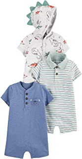 Baby Boys' 3-Pack Rompers