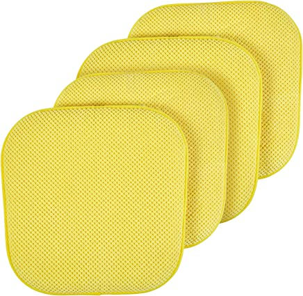Amazoncom Yellow Chair Pads Kitchen Table Linens Home Kitchen