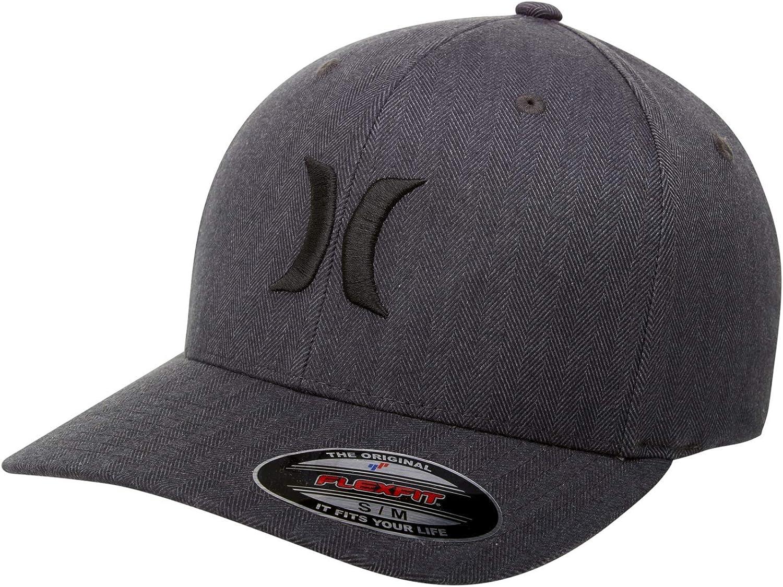 Hurley Men's Black Textures Baseball Cap: Clothing