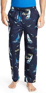 سروال النوم من نوتيكا للرجال المصنع من القطن الناعم المحبوك 100% مع حزام الخصر المرن واربطة