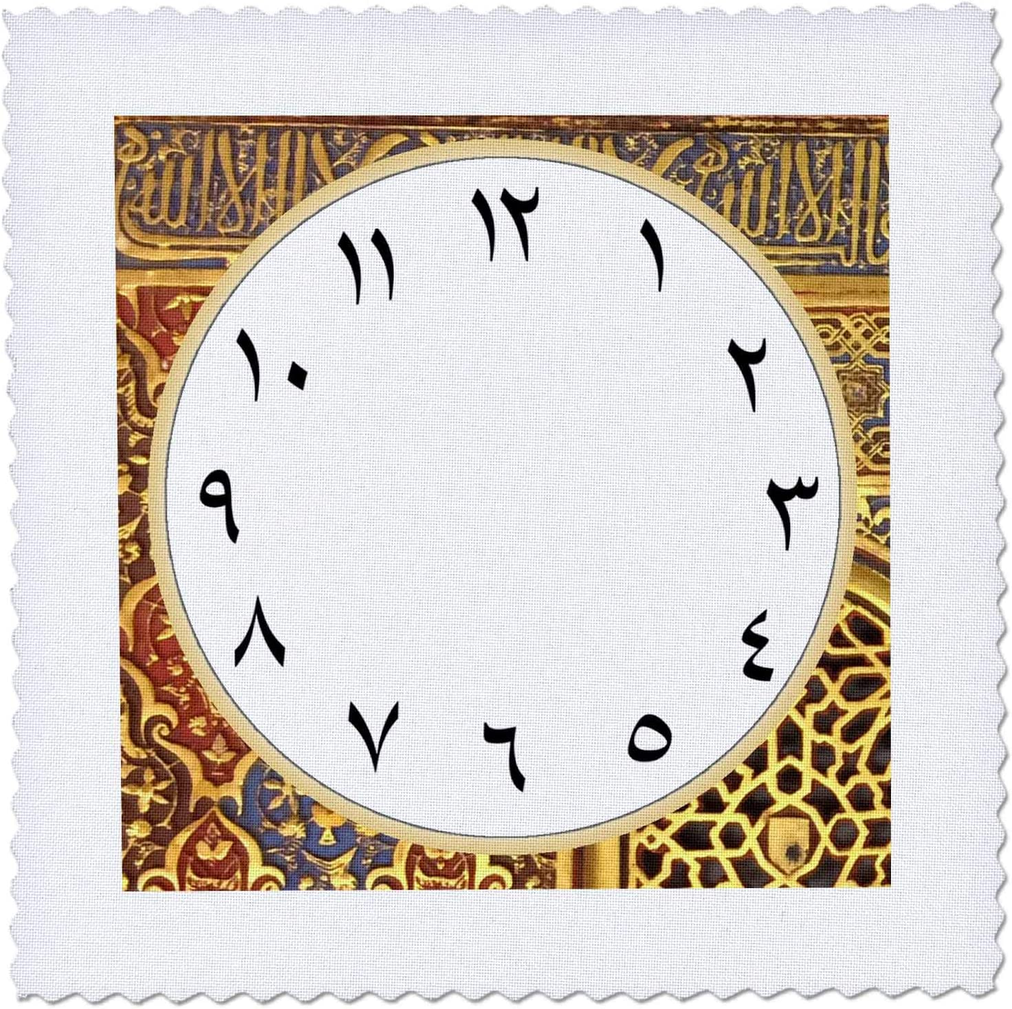 3dRose Arabic Clock Spring new work face Regular discount with - Arabian grap Numbers gold
