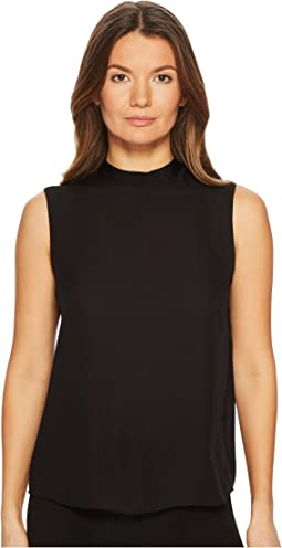 Vince Sleeveless Mock Neck Blouse