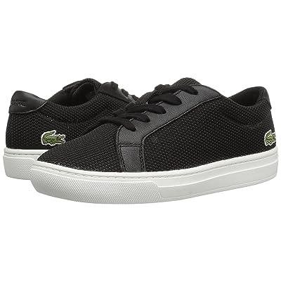 Lacoste Kids L.12.12 (Little Kid) (Black) Kids Shoes