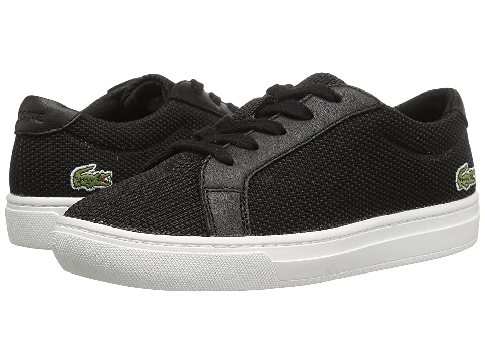 Lacoste Kids L.12.12 (Little Kid) (Black) Kids Shoes