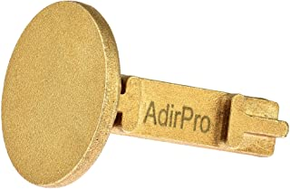 AdirPro Survey Markers – Durable Solid Brass & Low Profile Permanent Boundary Marking Caps/Stakes – for Surveying & Measuring Property & Land Area (1-3/8 Inch, Flat)