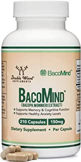 BacoMind Organic Bacopa (Patented and Clinically Proven Form of Bacopa Monnieri Extract) 210 Vegan Capsules, Promotes Lear...