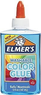 Elmer's Washable Translucent Color Glue, Blue, 5 Ounces, Great for Making Slime