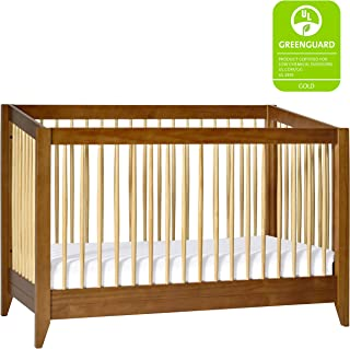 Babyletto Sprout 4-in-1 Convertible Crib with Toddler Bed Conversion Kit, Chestnut / Natural