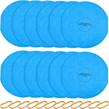 Isingo Reusable Dry Filter 901-07 for Most 5-Gallon and Larger Shop-Vac Vacuum Cleaners, Dry Disc Filter & Rubber band(12 Pack)