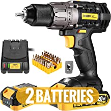 Cordless Drill, 20V Drill Driver 2x2000mAh Batteries, 530 In-lbs Torque, 24+1 Torque Setting, Fast Charger 2.0A, 0-1700RPM...