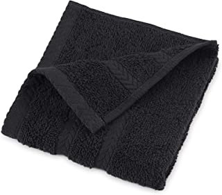 Martex DryFast Towel with Premium, Luxurious and Top Hotel Quality 100% Egyptian Cotton-Super Soft, Highly Absorbent, Lint Free and No Fading, Wash Cloth, Jet Black