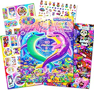Lisa Frank Stickers and Coloring Book Super Set (2 Books - Over 150 Stickers, 2 Posters and 100 Pages of Coloring Fun Featuring Lisa Frank!)