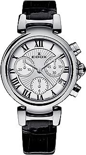 Edox Women's 10220 3C AR LaPassion Analog Display Swiss Quartz Black Watch