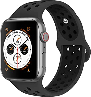AdMaster Bands Compatible with Apple Watch 38mm 40mm 42mm 44mm, Soft Silicone Replacement Wristband Compatible with iWatch Series 1/2/3/4/5