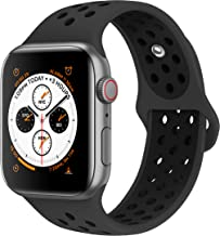 AdMaster Bands Compatible with Apple Watch 38mm 40mm 42mm 44mm,Soft Silicone Replacement Wristband Compatible with iWatch Series 1/2/3/4