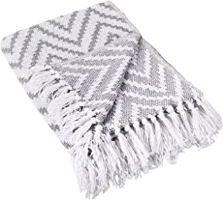 """DII 100% Cotton Chevron Herringbone Throw for Indoor/Outdoor Use Camping BBQ's Beaches Everyday Blanket - 50 x 60"""", Large ..."""