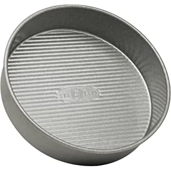 USA Pan Bakeware Round Cake Pan, 8 inch, Nonstick & Quick Release Coating, Made in the USA from Aluminized Steel