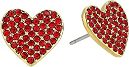 Kate Spade New York - Yours Truly Pave Heart Stud Earrings
