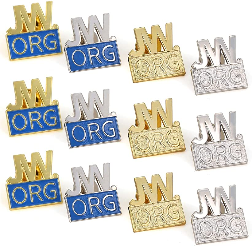 12 Pack JW Org Pin Made By Solid Metal Toned Into Gold Or Silver Great Jw Org Presents For Jehovah S Witnesses