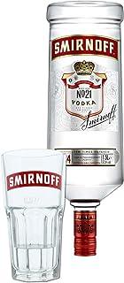 Smirnoff Red No. 21 Premium Vodka Triple Destilled, Relaunch 2019, Wodka, Alkohol, Alkoholgetränk, Flasche, 37.5%, 1.5 L, 749957, inklusive Gratis Glas