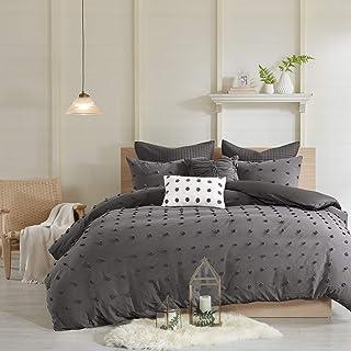 Urban Habitat Cotton Comforter Set-Tufts Pompom Design All Season Bedding, Matching Shams, Decorative Pillows, King/Cal Ki...