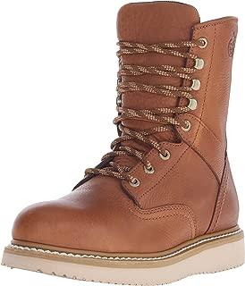 Boot Men's 8 Inch Wedge Steel Toe Work Shoe, Barracuda Gold, 10.5 M US