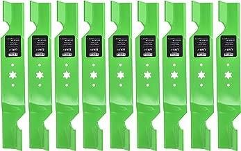 8TEN LawnRAZOR Hi-Lift Blade for MTD Cub Cadet Troy Bilt Triple Rear Bagger 742-0679 942-0679 9 Pack