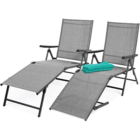 3 Positions Green Made in Italy Sun Chair /& Arm Chair Lightweight Ol/é Chaise Lounge Sturdy