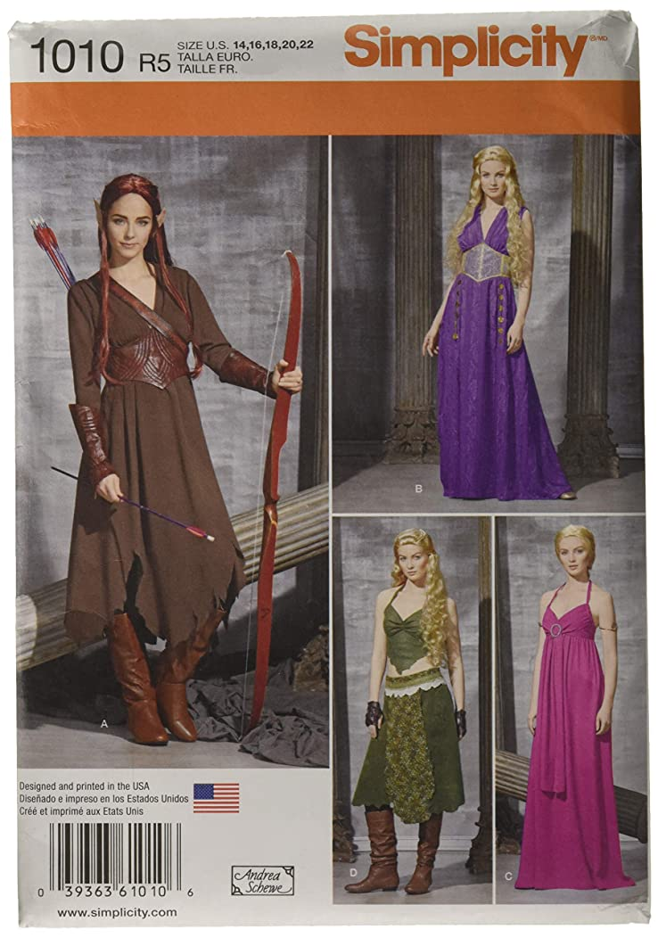 Simplicity Women's Elf Halloween, Ren Faire and Cosplay Costume Sewing Pattern, Sizes 14-22