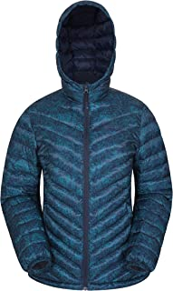 Mountain Warehouse Seasons Womens Printed Padded Jacket - Water Resistant, Lightweight Microfibre, Elastic Cuffs, Hood & Two Front Pockets - for Cold Autumn Weather