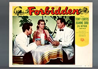 MOVIE POSTER: FORBIDDEN-1954-TONY CURTIS-JOANNE DRU-CRIME-DRAMA-LOBBY CARD FN