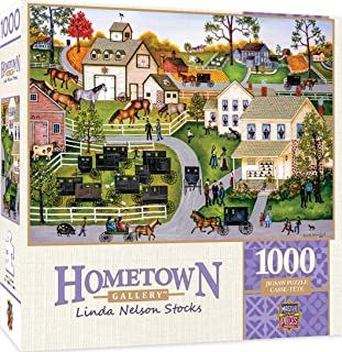 Masterpieces Hometown Gallery Jigsaw Puzzle, Sunday Meeting, Featuring Art by Linda Nelson Stocks, 1000Piece