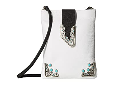 Leatherock Andy Cell Pouch/Crossbody (White) Cross Body Handbags