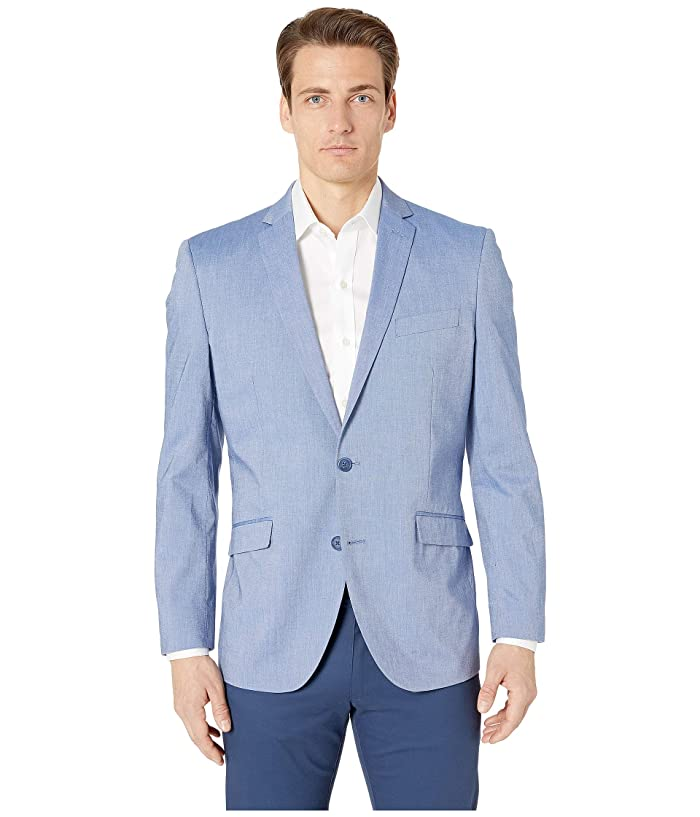 Kenneth Cole Reaction  Unlisted Chambray Sports Coat (Blue) Mens Jacket