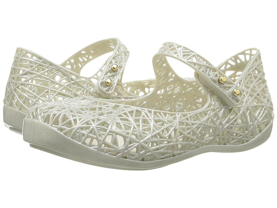 Mini Melissa Mini Campana Zig Zag VI (Toddler) (Pastel Silver) Girls Shoes