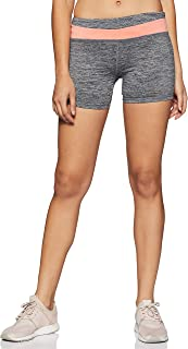 Forever Twenty One Women's Shorts (214176_Charcoal/Coral_Small)