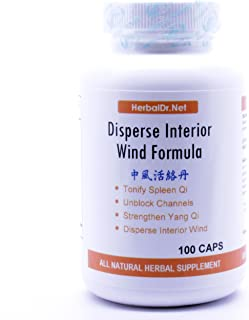 Disperse Interior Wind Formula Dietary Supplement 500mg 100 capsules (Zhong Feng Huo Luo Wan) G08 100% Natural Herbs